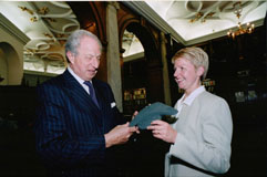 Lord Woolf with Kidatu's co-founder, Helen Roberts